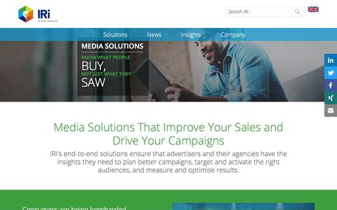 Screenshot of Press Page iriworldwide.com - Media solutions to know what people buy- IRI - captured Jan. 6, 2020