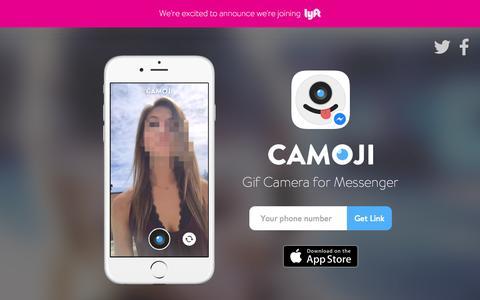 Screenshot of Home Page camoji.com - Camoji - GIF Camera - captured Sept. 20, 2015