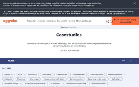 Screenshot of Case Studies Page aggreko.com - Casestudies | Aggreko - captured Oct. 3, 2018