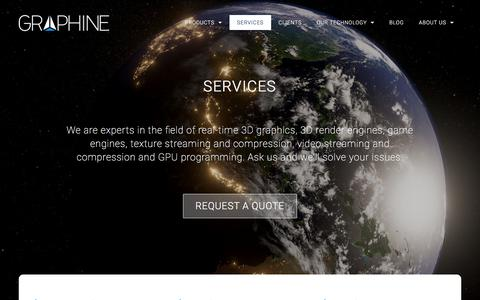 Screenshot of Services Page graphinesoftware.com - Services | Graphine | Texture streaming and compression middleware - captured Sept. 11, 2017