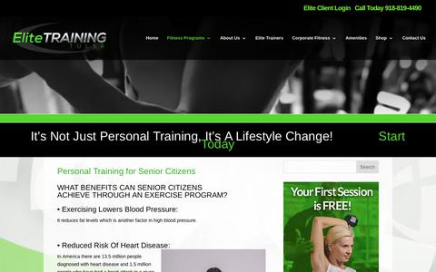Elite Training Tulsa | Personal Training For Senior Citizens | Elite Training
