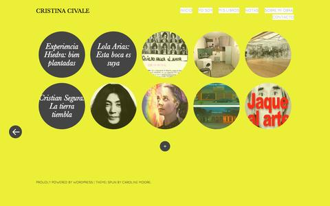 Screenshot of Home Page cristinacivale.net - Cristina Civale | Periodista y escritora argentina - captured Nov. 9, 2016