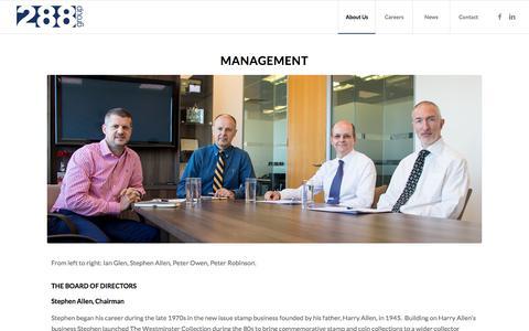 Screenshot of Team Page 288group.com - Management - 288 Group - captured Nov. 15, 2017