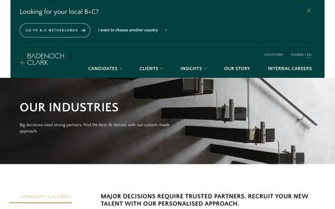Screenshot of Services Page badenochandclark.com - Recruitment Process Outsourcing (RPO) | Consultancy & Placement | B+C - captured Oct. 4, 2019