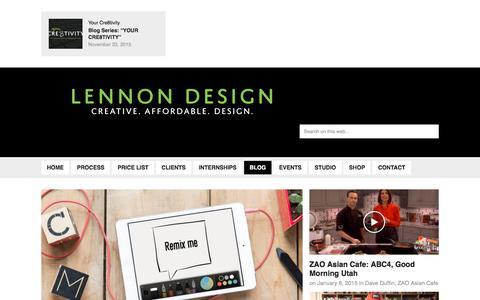 Screenshot of Blog lennondesign.com - BLOG - Lennon Design Lennon Design - captured Dec. 9, 2015