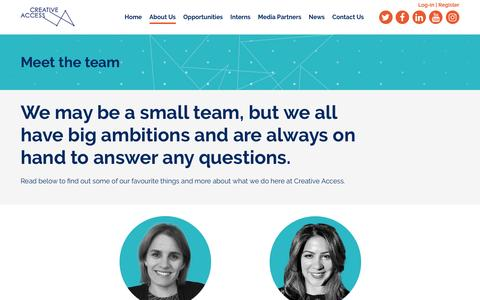 Screenshot of Team Page creativeaccess.org.uk - Our Team | Creative Access - captured May 23, 2017