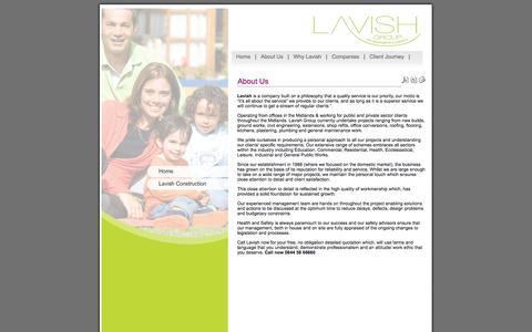 Screenshot of About Page lavishgroup.co.uk - lavishgroup.co.uk - About Us - captured Oct. 2, 2014