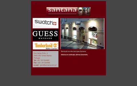 Screenshot of Home Page santana.com.pt - Benvindo ao site das lojas Santana - captured Feb. 4, 2016
