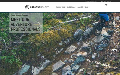 Screenshot of Team Page arbutusroutes.com - Meet our Adventure Professionals - Arbutus Routes - captured July 30, 2018