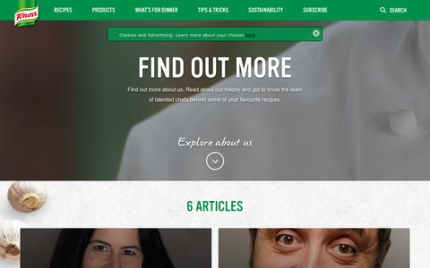 Screenshot of About Page knorr.com - About Us   Knorr® - captured July 2, 2017