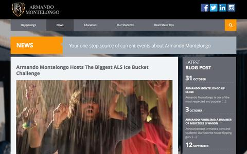 Screenshot of Press Page armandomontelongo.com - Armando Montelongo Successful Entrepreneur | News - captured Nov. 2, 2014