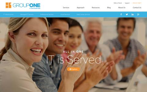 Screenshot of Services Page grouponeit.com - IT Services - GroupOne Consulting Inc. - captured Feb. 1, 2016
