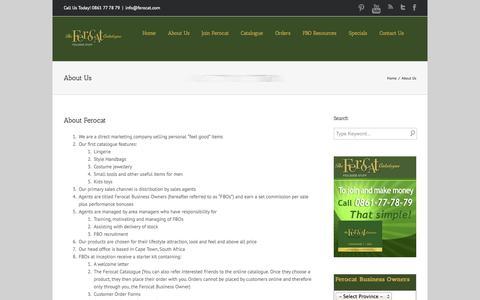 Screenshot of About Page ferocat.com - About Ferocat Catalogue  | Ferocat - captured Sept. 30, 2014