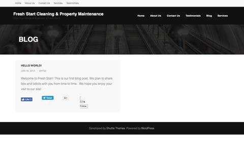 Screenshot of Blog freshstartnsb.com - Blog | Fresh Start Cleaning & Property Maintenance - captured Dec. 19, 2018