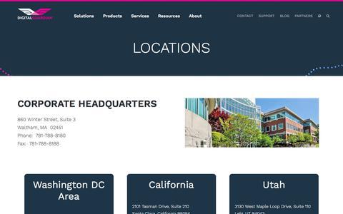 Screenshot of Locations Page digitalguardian.com - Locations | Digital Guardian - captured Aug. 1, 2017