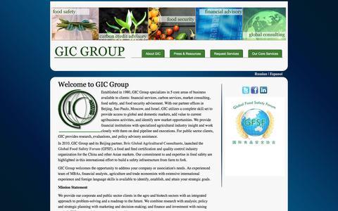 Screenshot of Home Page gicgroup.com - GIC Group - captured Dec. 7, 2015