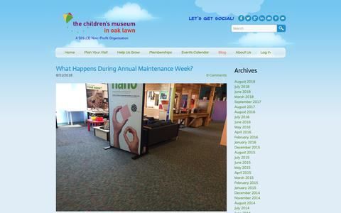 Screenshot of Blog cmoaklawn.org - Children's Museum in Oak Lawn - Blog - captured Sept. 27, 2018