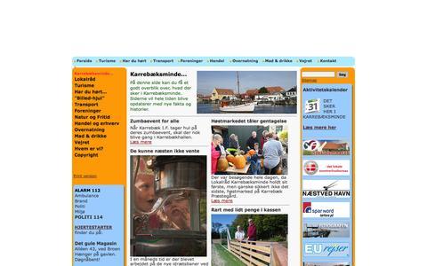 Screenshot of Home Page karrebaeksminde.dk - Karrebæksminde - meget mere end et idyllisk fiskerleje - Karrebæksminde... - captured Oct. 5, 2014