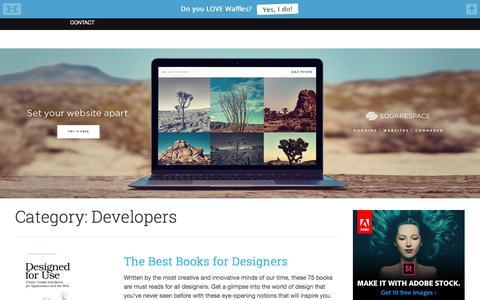 Screenshot of Developers Page webdesignledger.com - Developers - Web Design Ledger - captured Aug. 19, 2016