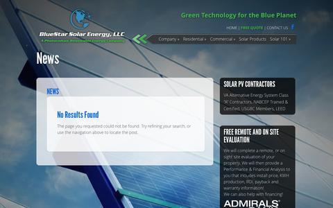 Screenshot of Press Page bluestarcleanenergy.com - News | Blue Star Energy - captured Nov. 3, 2014