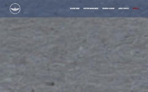 Screenshot of About Page tacaero.com - About Us — TacAero - captured Jan. 10, 2016