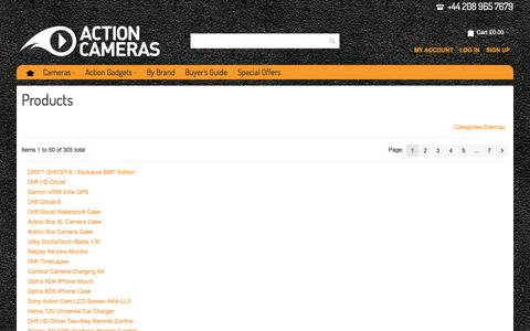 Screenshot of Site Map Page actioncameras.co.uk - Action Cameras - The UK's Leading Specialists in Helmet Camera Systems, Onboard Cameras and Mounts for Extreme Sports. Drift Innovation & Contour HD ranges available. - captured Sept. 23, 2014