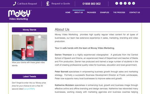 Screenshot of About Page movey.co.uk - About Us - Movey Video Marketing - captured Nov. 3, 2014