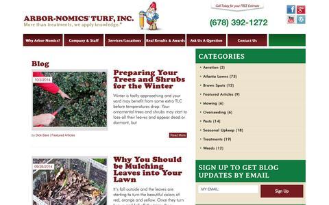 Screenshot of Blog arbor-nomics.com - Arbor-Nomics Blog - captured Oct. 4, 2014