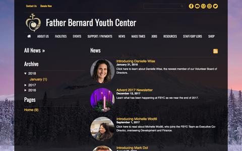 Screenshot of Press Page fbyc.info - News - captured Aug. 10, 2018