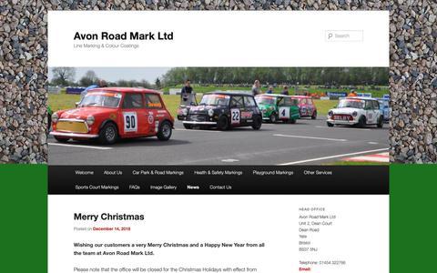 Screenshot of Press Page avonroadmark.co.uk - News | Avon Road Mark Ltd | Line Marking & Colour Coatings - captured Dec. 18, 2018