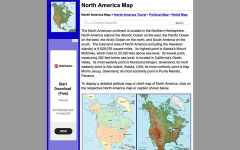 Screenshot of Home Page north-america-map.com - North America Map - North America Maps - captured Nov. 29, 2018