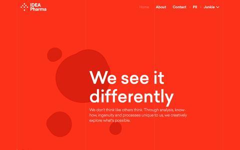 Screenshot of Home Page ideapharma.com - Home | IDEA Pharma - captured May 23, 2017