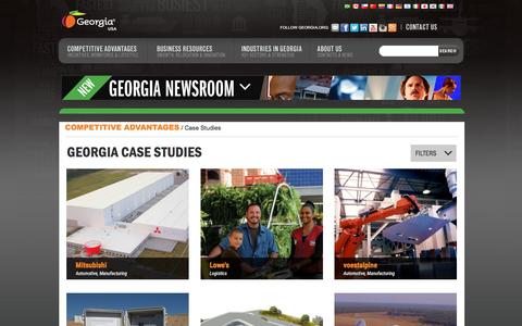 Screenshot of Case Studies Page georgia.org - Case Studies Archive - Georgia Department of Economic Development - captured Jan. 18, 2016