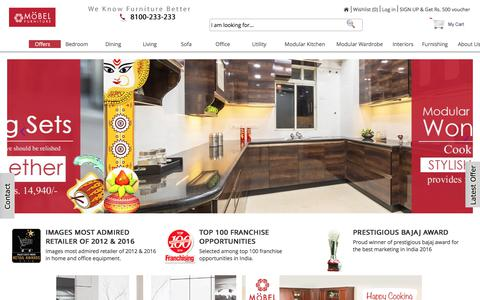 Screenshot of Home Page mobelhomestore.com - Furniture Online - Buy Furniture Online India - MobelHomeStore - captured Sept. 22, 2018