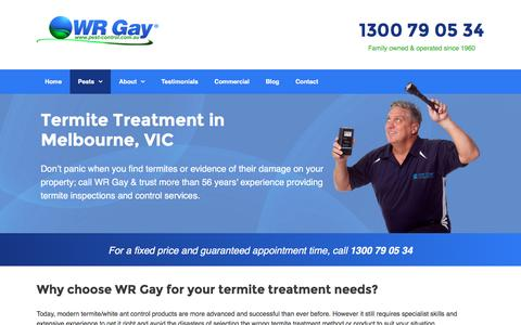 Termite Treatment & Inspections in Melbourne, VIC | WR Gay