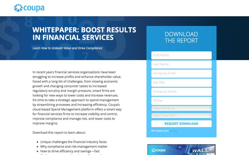 Boost Results in Financial Services | Spend Management Financial Compliance Software | Coupa Software