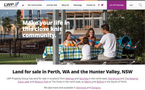 Screenshot of About Page lwppropertygroup.com.au - Land for Sale, house and land - LWP Property Group Ph 08-9297-9999 - captured Oct. 13, 2016