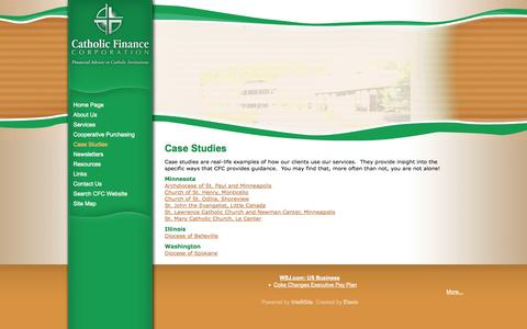 Screenshot of Case Studies Page catholicfinance.org - Catholic Finance Corporation - Case Studies Intro - captured Oct. 2, 2014