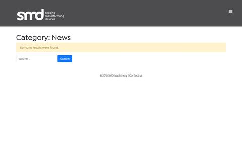 Screenshot of Press Page smdmachinery.com - News Archives - SMD Machinery - captured Oct. 1, 2018