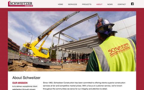 Screenshot of About Page schweitzerinc.com - About Schweitzer - Schweitzer - captured Feb. 4, 2016