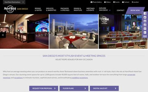 San Diego Meeting Space - Event & Party Venues - Hard Rock Hotel SD