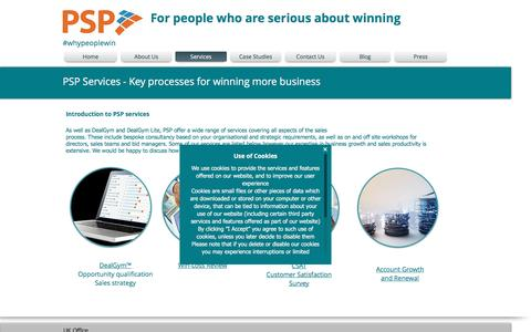 Screenshot of Services Page practicalsalesprocesses.co.uk - Practical Sales Processes Services - captured Nov. 10, 2016