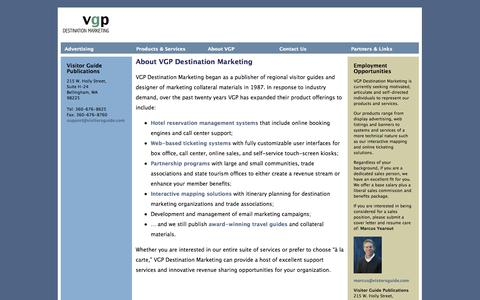 Screenshot of Contact Page visitorsguide.com - Visitor Guide Publications - captured Nov. 4, 2014