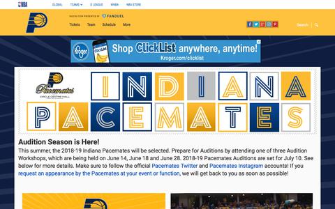 Screenshot of nba.com - Indiana Pacemates - Homepage   Indiana Pacers - captured June 29, 2018