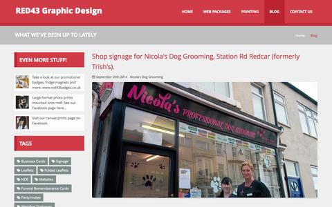Screenshot of Blog red43.co.uk - RED43 Blog | What we've been up to. - captured Oct. 7, 2014