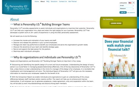 Screenshot of About Page crown.org - About | Personality ID - captured Nov. 2, 2014