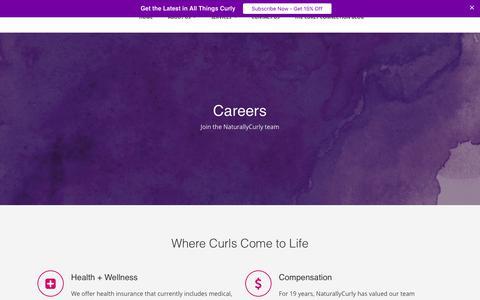 Screenshot of Jobs Page texturemedia.com - Careers - captured June 13, 2017
