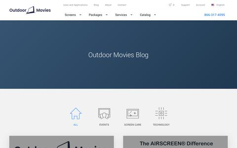 Screenshot of Blog outdoor-movies.com - Outdoor Movies Blog | Outdoor-Movies.com - captured Nov. 2, 2017