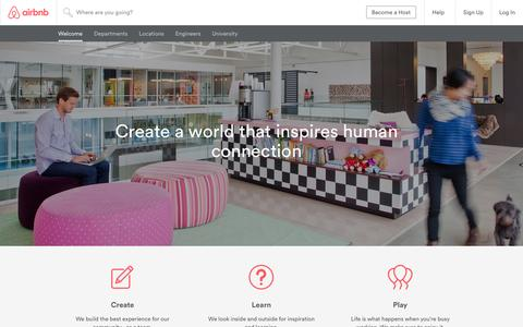 Screenshot of Jobs Page airbnb.com - Life | Careers at Airbnb - captured Dec. 11, 2015