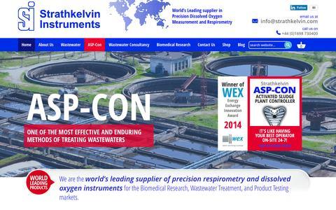 Screenshot of Home Page strathkelvin.com - Strathkelvin Instruments | ASP-Con | Strathtox | AS Bioscope - captured Feb. 25, 2016